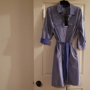 Jones New York shirt Dress with Pockets